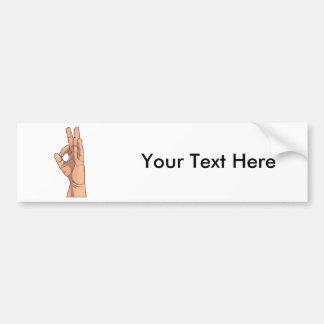 A OK Hand Sign and Gestures a-ok Bumper Sticker