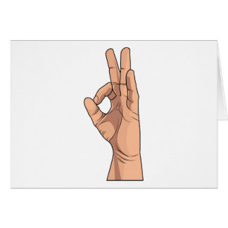 A OK ~ Hand Sign and Gestures a-ok Card
