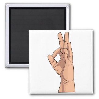 A OK ~ Hand Sign and Gestures a-ok Magnet