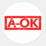 A-OK Stamp Classic Round Sticker