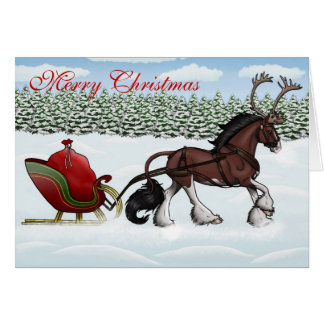 A One Cerviquine Open Sleigh Card