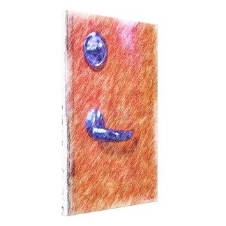 A orange door canvas print