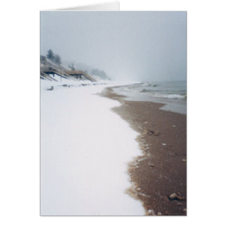 A orillas del lago un invierno felicitación