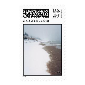 A orillas del lago un invierno sellos postales