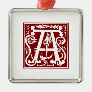 A - Ornamental Alphabet Christmas Tree Ornament