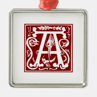 A - Ornamental Alphabet Metal Ornament