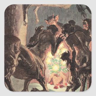 A Pagan Christmas Square Sticker