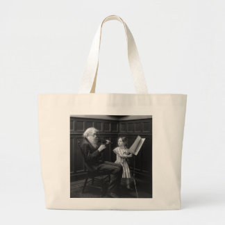 A Page Turner, early 1900s Canvas Bag