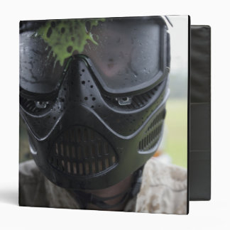A paintball round 3 ring binder