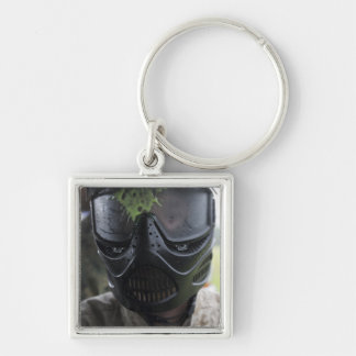 A paintball round keychain