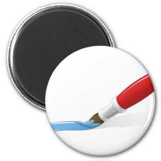 A paintbrush painting magnet