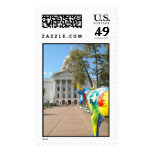 A Painted Cow Admires the Capitol Building Stamps
