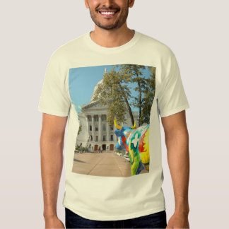 A Painted Cow Admires the Capitol Building T-shirt