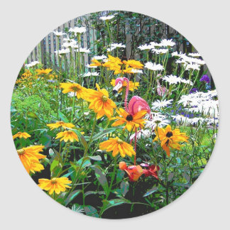 A  Painted Garden Classic Round Sticker