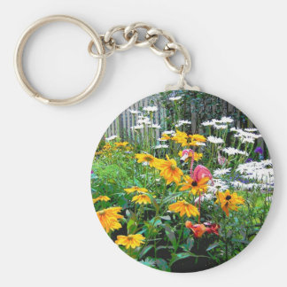 A  Painted Garden Key Chain