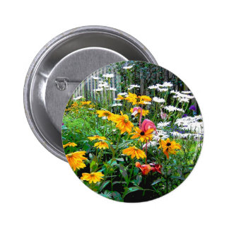 A  Painted Garden Pinback Button