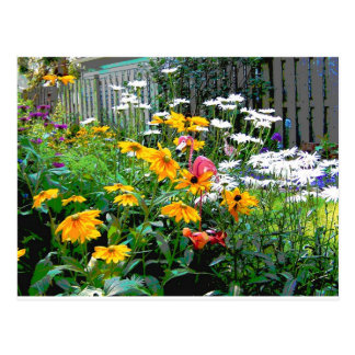 A  Painted Garden Postcard