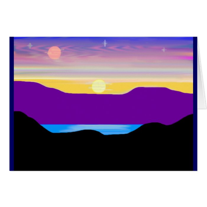 A Painted Sunset #2 Card