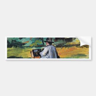 A Painter At Work By Paul Cézanne (Best Quality) Car Bumper Sticker