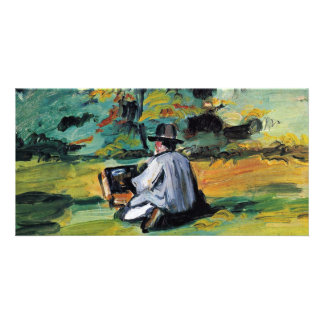 A Painter At Work By Paul Cézanne (Best Quality) Custom Photo Card