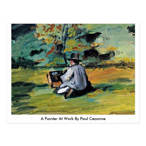 A Painter At Work By Paul Cezanne Post Cards
