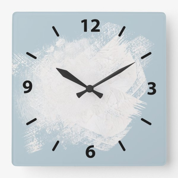 A Painters light blue Square Wall Clock