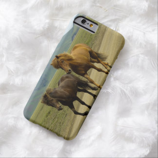 A Pair of Brown Icelandic Ponies Barely There iPhone 6 Case