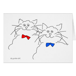 A Pair of Cats! Greeting Card