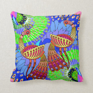 A pair of colorful Peacocks -  Room Decor Pillow 4