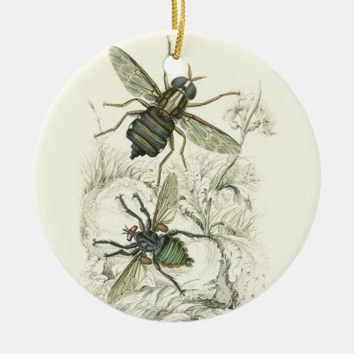 A Pair of Flies Ornament