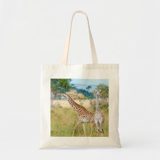 A Pair of Giraffes in the Mikumi National Park Tote Bags