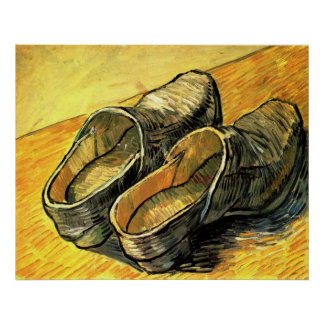 A Pair of Leather Clogs by Vincent van Gogh Poster