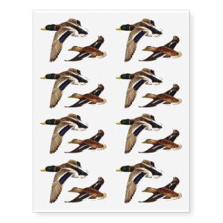 A Pair of Mallard Ducks Temporary Tattoos