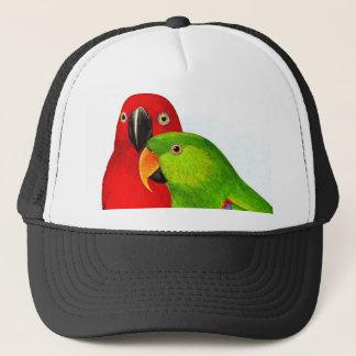 A Pair of Parrots Love Birds Trucker Hat