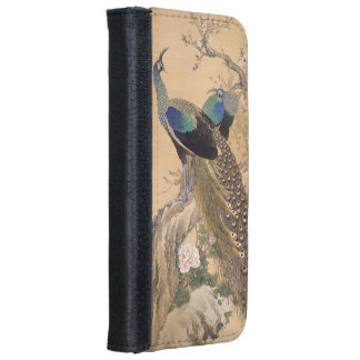 A Pair of Peacocks in Spring by Imao Keinen Wallet Phone Case For iPhone 6/6s