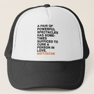 A PAIR OF POWERFUL SPECTACLES HAS SOMETIMES SUFFIC TRUCKER HAT