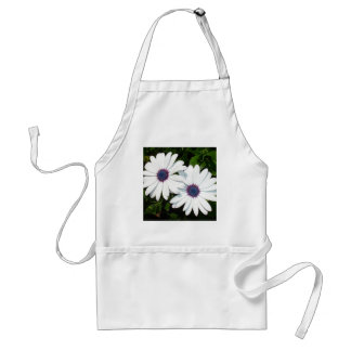 A Pair of Pristine White African Daisies Adult Apron