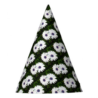 A Pair of Pristine White African Daisies Party Hat