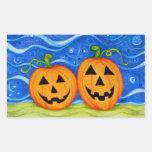 A Pair of Pumpkins Rectangular Sticker