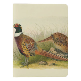A pair of Ring necked pheasants in a grassy field Extra Large Moleskine Notebook