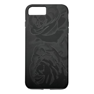 A pair of roses in black iPhone 8 plus/7 plus case