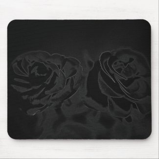 A pair of roses in black
