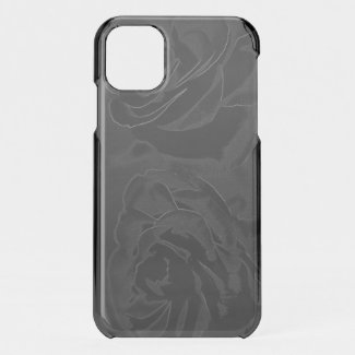 A pair of roses in black On iPhone 11 Case