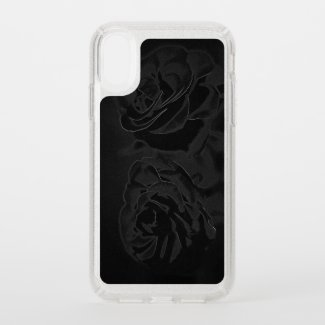 A pair of roses in black speck iPhone XR case