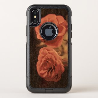 A pair of roses in sketch3 OtterBox commuter iPhone x case