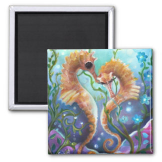 A pair of Sea Horses  Magnet