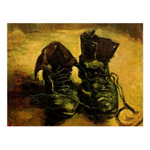 A Pair of Shoes by Vincent van Gogh, Vintage Art Post Cards