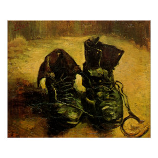 A Pair of Shoes by Vincent van Gogh, Vintage Art Poster