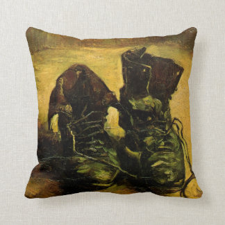 A Pair of Shoes by Vincent van Gogh, Vintage Art Throw Pillow