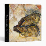 A Pair of Shoes Vincent van Gogh fine art painting 3 Ring Binders